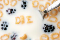 Cereal DIE Word Stock Photos