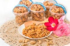 Cereal do caramelo do floco de milho Foto de Stock