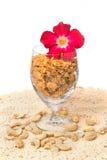 Cereal do caramelo do floco de milho Imagem de Stock