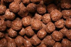 Cereal do chocolate Foto de Stock
