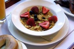 Cereal e fruta Imagem de Stock