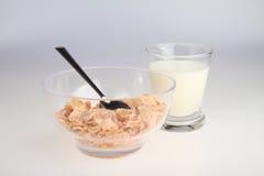 Cereal e leite Imagens de Stock Royalty Free