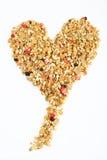 Cereal en forma de corazón Fotografía de archivo libre de regalías