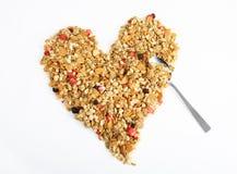 Cereal en forma de corazón Fotografía de archivo