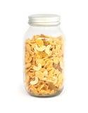 Cereal en la botella de cristal Fotos de archivo