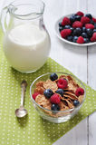 Cereal flakes with berries Royalty Free Stock Photos