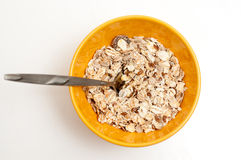 Cereal flakes on a bowl Royalty Free Stock Image
