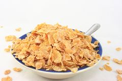 Cereal Flakes In A Breakfast Bowl Royalty Free Stock Photography