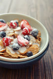 Cereal flakes with fresh berries Stock Images