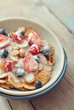 Cereal flakes with fresh berries Stock Photo