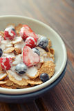 Cereal flakes with fresh berries Stock Photography