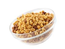 Cereal flakes. Isolated Royalty Free Stock Photos
