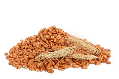 Cereal flakes and wheat Stock Photo