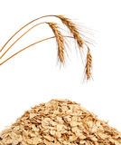 Cereal flakes and wheat Royalty Free Stock Images