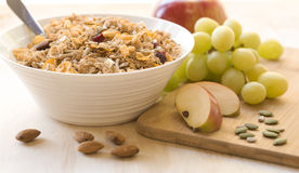 Cereal, Fresh Fruit, Seeds and Nuts Stock Photo