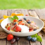 Cereal with fresh fruits Royalty Free Stock Image