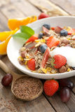 Cereal with fresh fruits Royalty Free Stock Photos