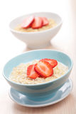 Cereal with fresh strawberry Royalty Free Stock Image