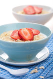 Cereal with fresh strawberry Stock Photography