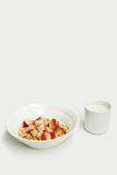 Cereal with fruit and soy milk Royalty Free Stock Photo