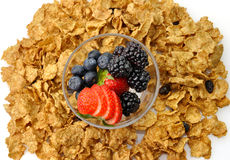 Cereal with fruits Stock Image