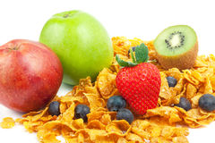 Cereal with fruits Stock Photo