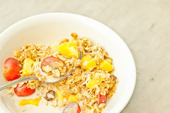 Cereal with fruits Royalty Free Stock Image