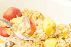 Cereal with fruits Royalty Free Stock Images