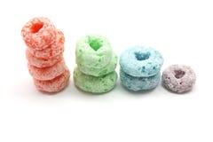 Cereal Fruity empilhado dos anéis Imagens de Stock Royalty Free