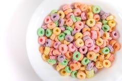 Cereal frutado em uma bacia Imagens de Stock Royalty Free