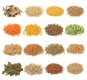 Cereal,grain and seeds royalty free stock photo