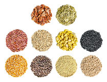Cereal, grain and seeds Stock Photography