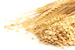 Cereal grain whole rolled oats Stock Photos