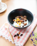Cereal, grain and yogurt Royalty Free Stock Photography