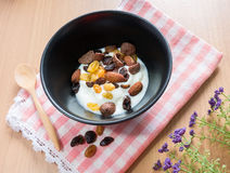 Cereal, grain and yogurt Stock Photo