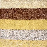 Cereal grains background Royalty Free Stock Photos