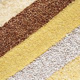 Cereal grains background Stock Photos
