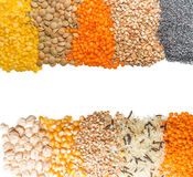 Cereal grains background Royalty Free Stock Images