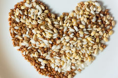 Cereal grains close-up Royalty Free Stock Photo