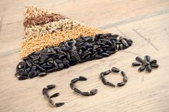 Cereal Grains and Seeds Royalty Free Stock Photos