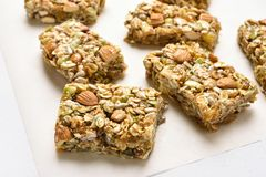 Cereal granola bar Royalty Free Stock Photography