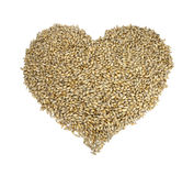 Cereal heart royalty free stock image