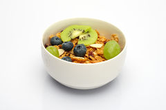Cereal and heathy fruit Stock Images