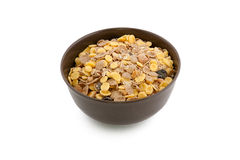 Cereal In A Bowl Isolated On A White Background Royalty Free Stock Image