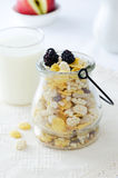Cereal in a jug Royalty Free Stock Photo