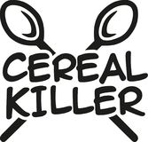 Cereal Killer with spoons. Icon stock illustration