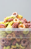 Cereal loops in box closeup Royalty Free Stock Image