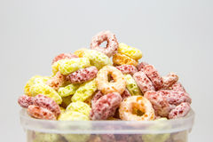 Cereal loops closeup Royalty Free Stock Photography