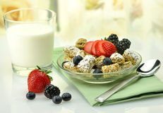 Cereal and milk Royalty Free Stock Images