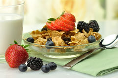 Cereal and milk Stock Image
